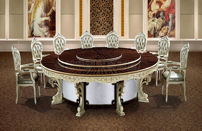 实木电动餐桌A44