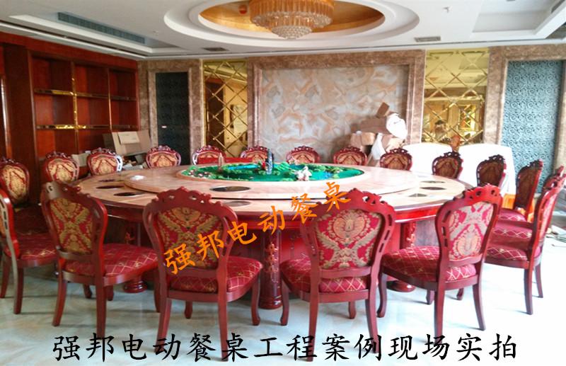 大理石电动餐桌C07