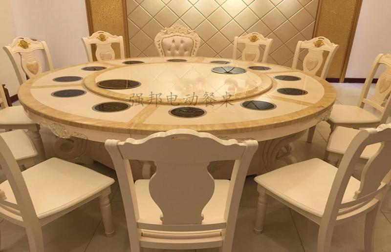 大理石电动餐桌C08