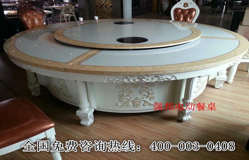 大理石电动餐桌C04
