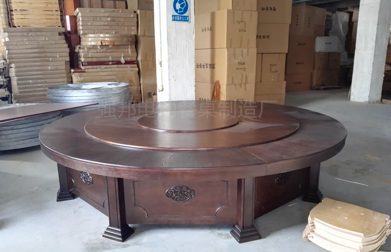 实木电动餐桌A100