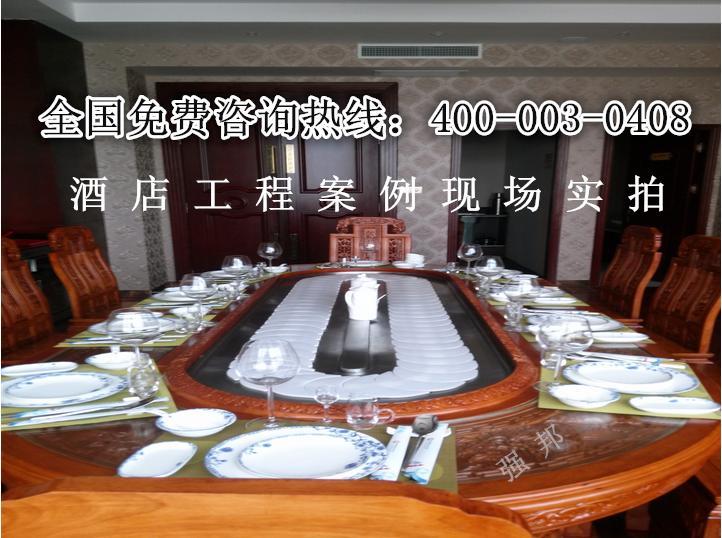 椭圆形电动餐桌01