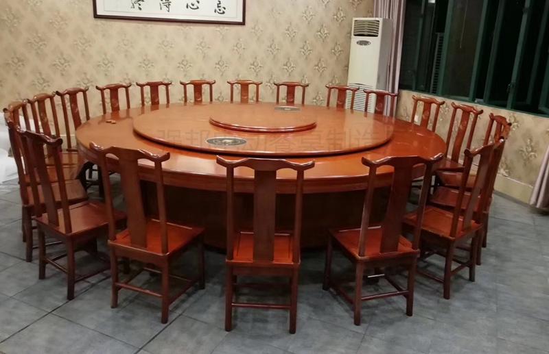 实木电动餐桌A94